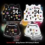 シュプリーム x ナイキ x NBA ジャージー&ショーツ モックアップ!