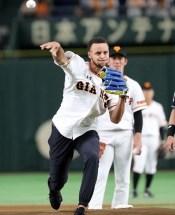 ステフィン・カリー 巨人戦 日本 始球式