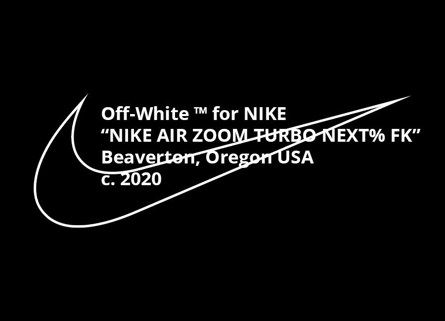 オフホワイト X ナイキ エア ズーム ターボ ネクスト% フライニット