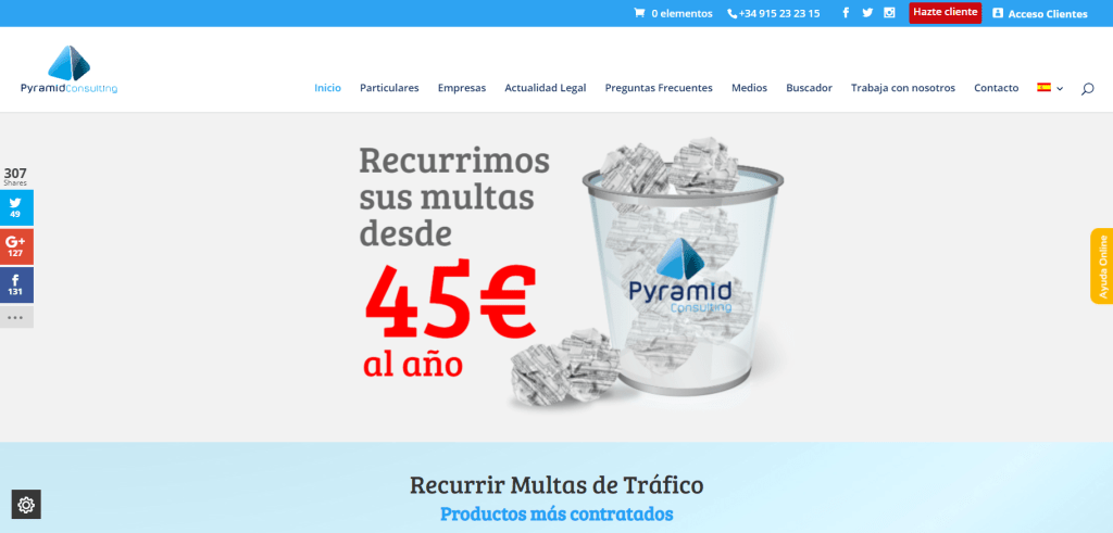 Caso de exito en marketing digital Pyramid Consulting
