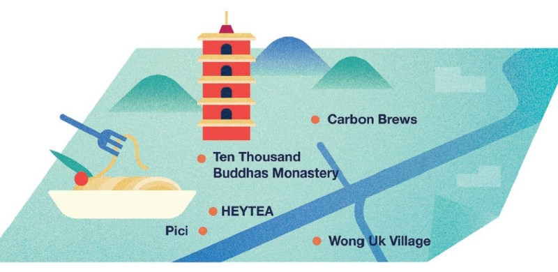 Sha Tin map