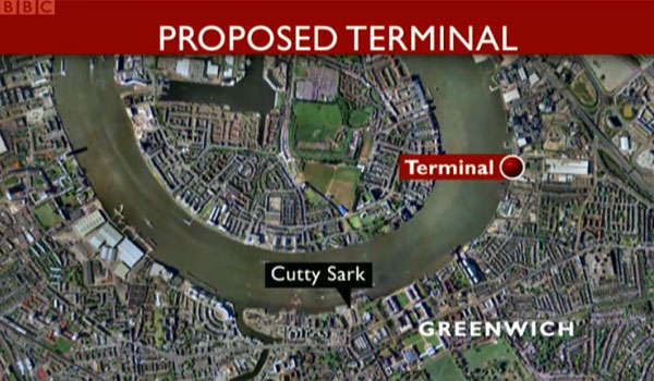 Proposed cruise terminal in Greenwich - BBC London News