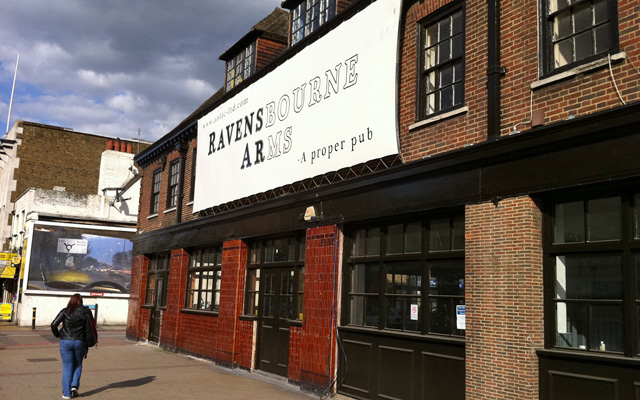 Opening time: The Ravensbourne Arms when it started trading in May 2011