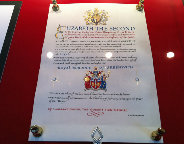 Greenwich's letters patent
