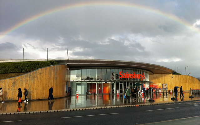 Rainbow at Sainsbury's Greenwich, 2011