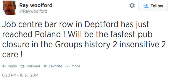 Ray Woolford, Twitter