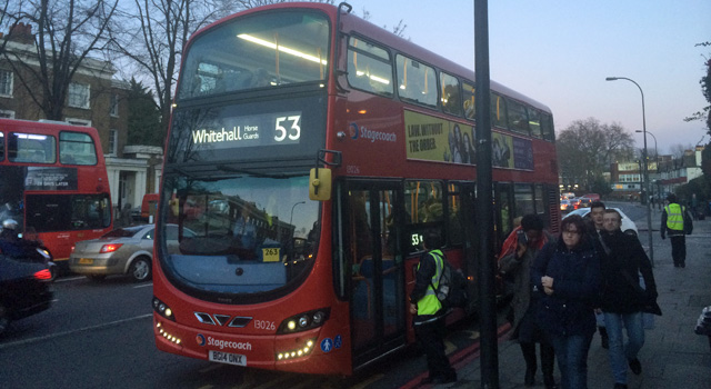 53 at New Cross Gate, 15 January 2015