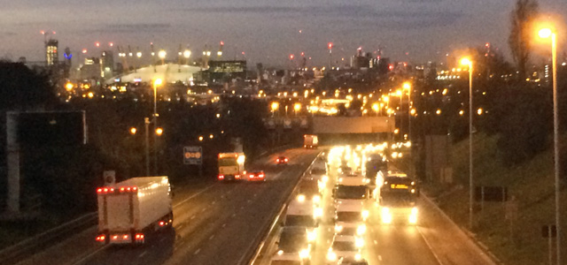 Southbound traffic on the A102 during the evening rush hour - an issue the Silvertown Tunnel will make worse