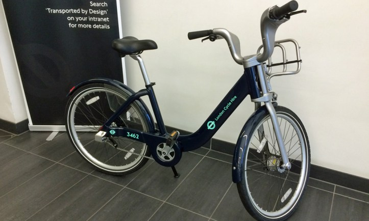 One cycle hire bike was based in Greenwich for a while - this unbranded prototype was spotted in the lobby of TfL's Pier Walk offices earlier this year