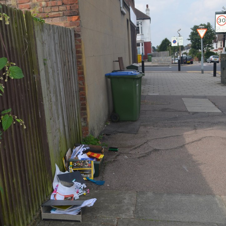Dumped rubbish in Eltham