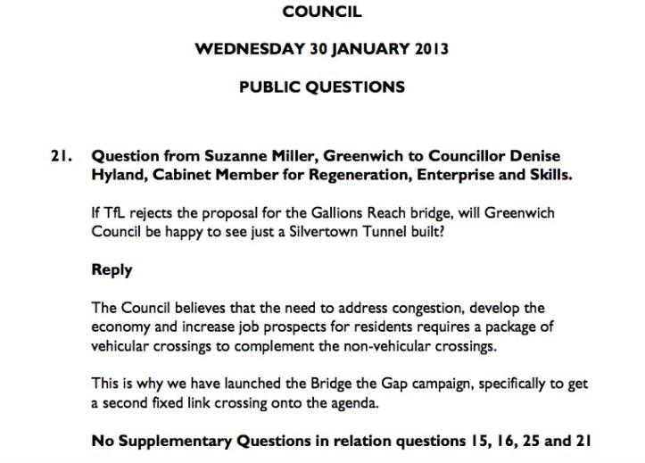 Greenwich Council meeting, 30 January 2013