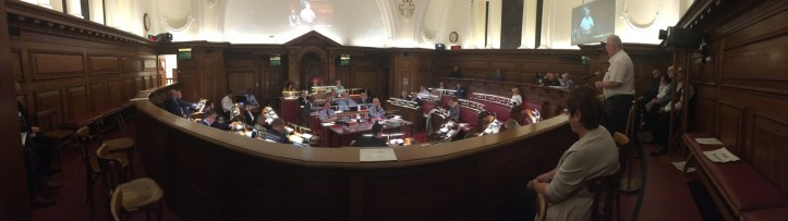 Greenwich Council meeting, October 2017