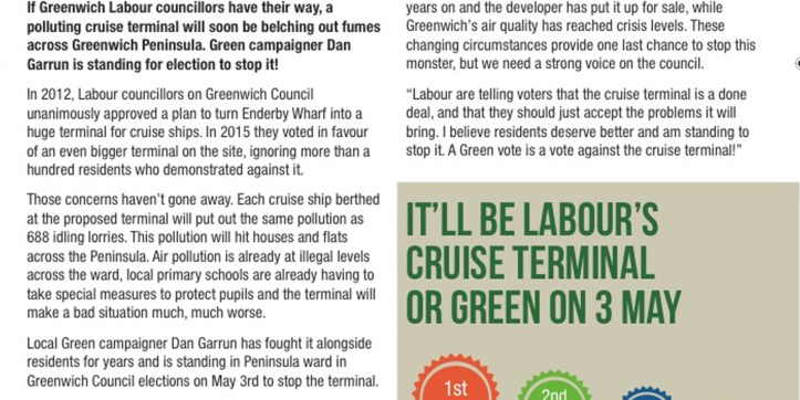 Green Party leaflet