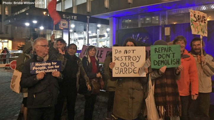 Lewisham Town Hall protesters
