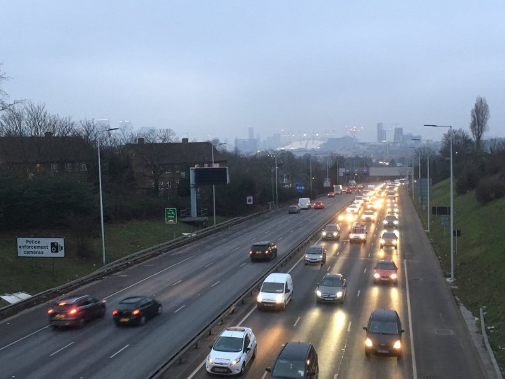 A102 in evening rush hour