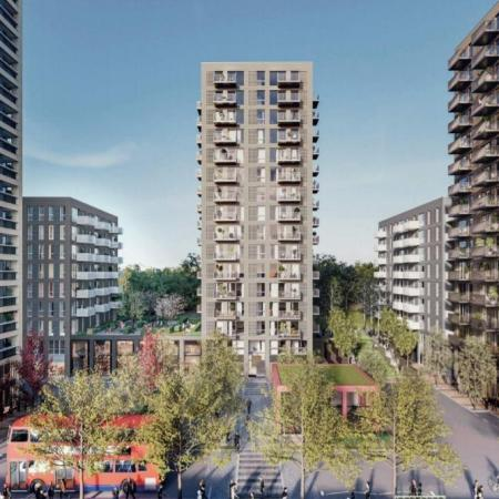 Kidbrooke Station Square render