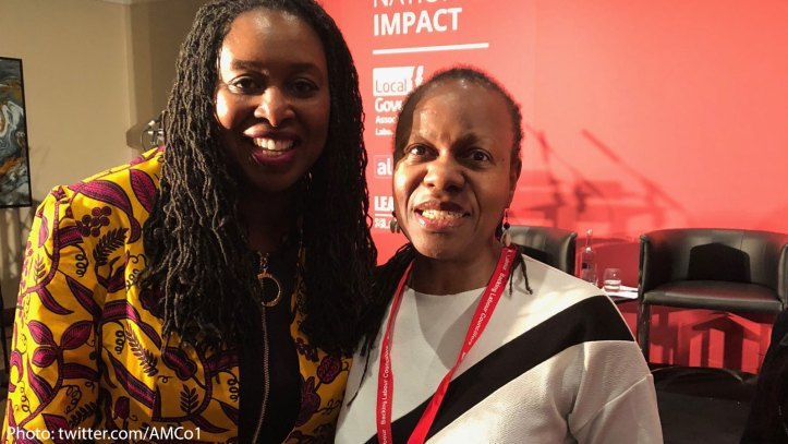 Dawn Butler MP and Ann-Marie Cousins