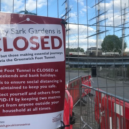 Cutty Sark Gardens closed