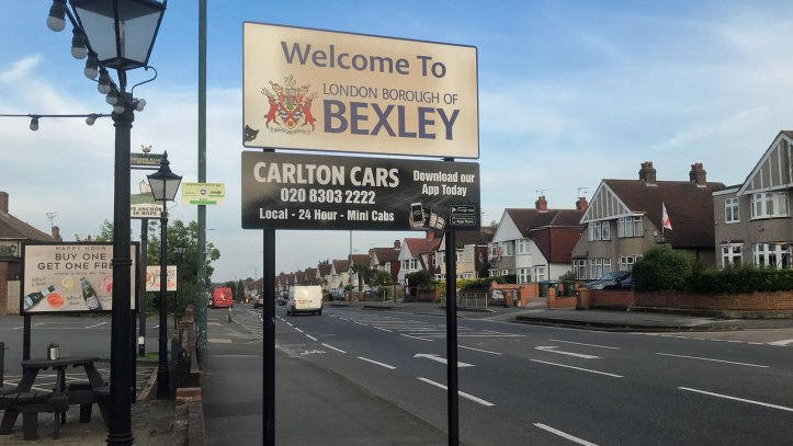 Bexley borough border sign