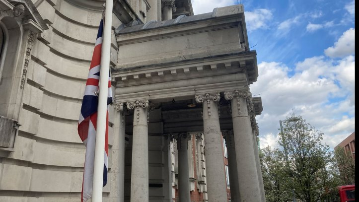 Woolwich Town Hall flag