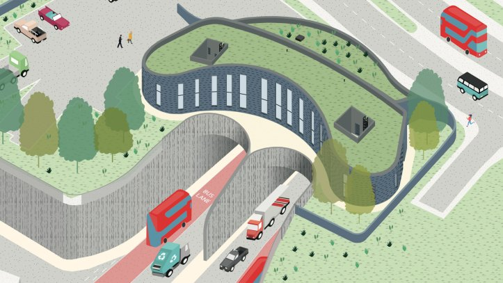 Silvertown Tunnel drawing