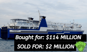 Bought for $114 million – Sold for $2
