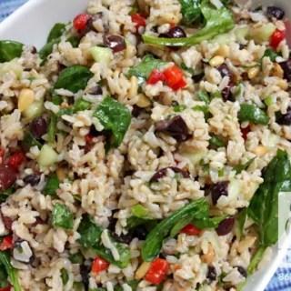 Mediterranean Rice Salad (vegan, gf)