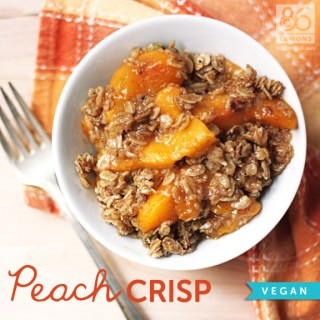 Peach Crisp (vegan)