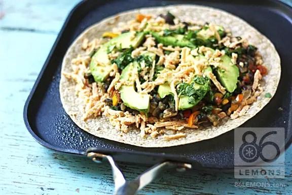 gluten free vegan quesadillas with avocado
