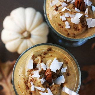 Pumpkin Pie Smoothie (vegan, gf)