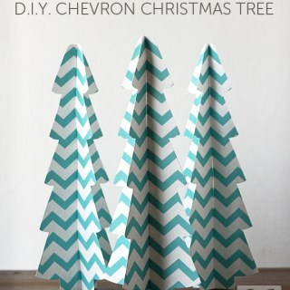 DIY 3D Chevron Christmas Tree (free download)