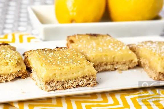 DELICIOUS Lemon Bars #vegan #glutenfree  86lemons.com