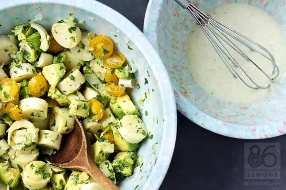 Hearts of Palm and Avocado Salad (vegan, gf) - 86 Lemons