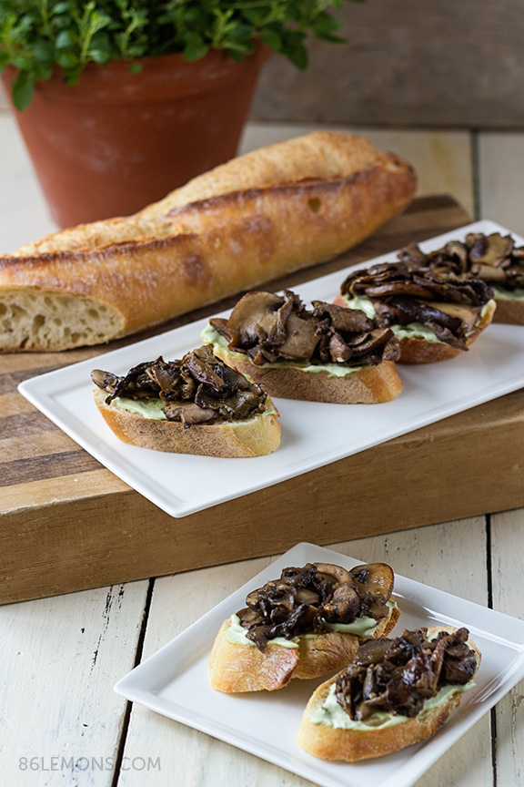 vegan mushroom crostini recipe