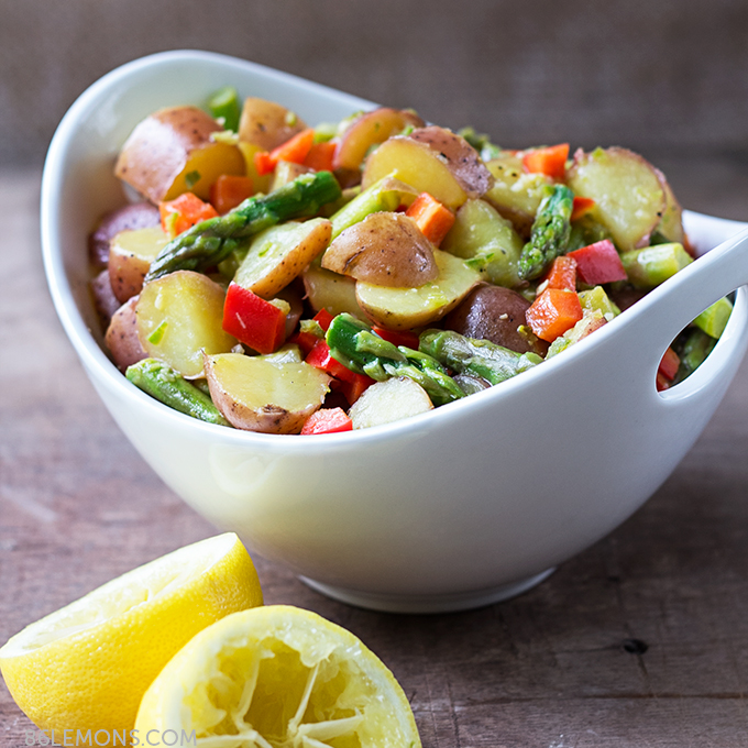 Asparagus and Potato Salad with Jalapeño Dressing