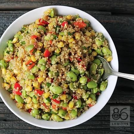 Quinoa Corn Edamame Salad (vegan, gf)