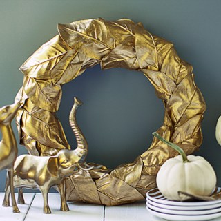 DIY Gold Leaf Wreath