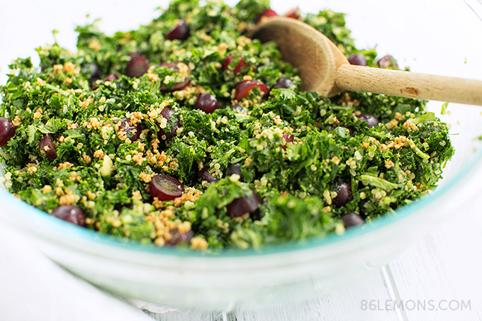 Chopped Kale & Quinoa Salad - Gluten Free and Vegan