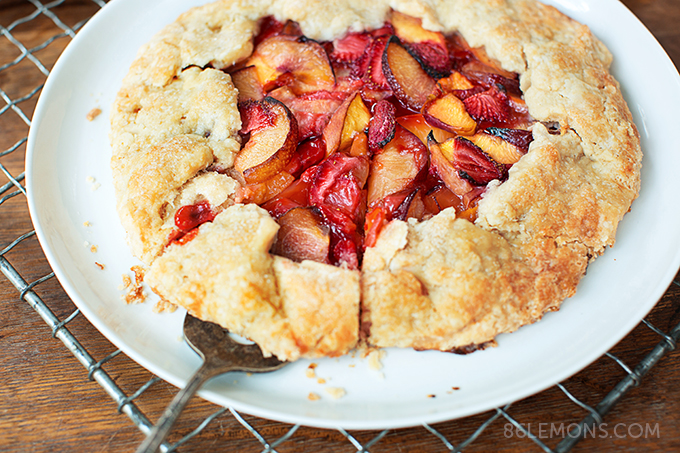 Summer Fruit Galette (vegan, gluten-free) 06