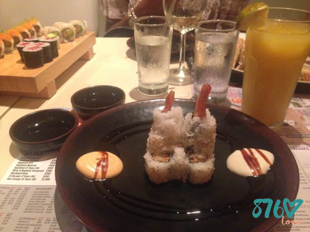 Annex East Japanese, Sora Japanese Sky Cuisine, in Jamaica, Sushi war, cooked roll sushi war, 876Lover, Shrimp Tempura Roll,