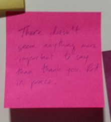 Post-it: Thank you.