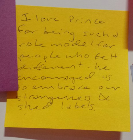 Post-it: Prince was a role model for people who felt different.