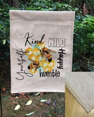 Linen Flag with Bees