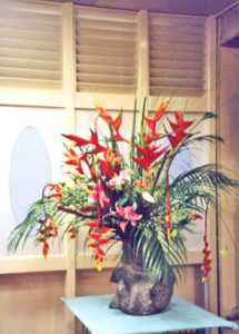 ヘリコニアの会場装花