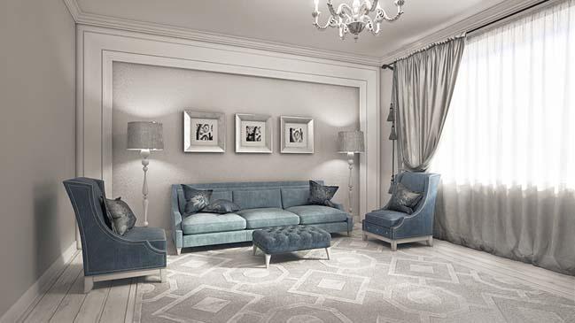 Elegant Neoclassical Living Room Design