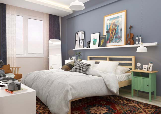 Bedroom interior design for student