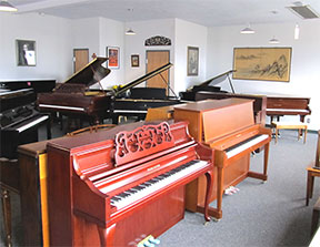 88 Keys Piano Warehouse east showroom