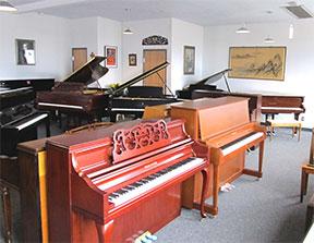 88 Keys Piano Warehouse east showroom