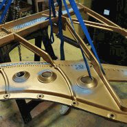 Plate repair by a steinway specialist