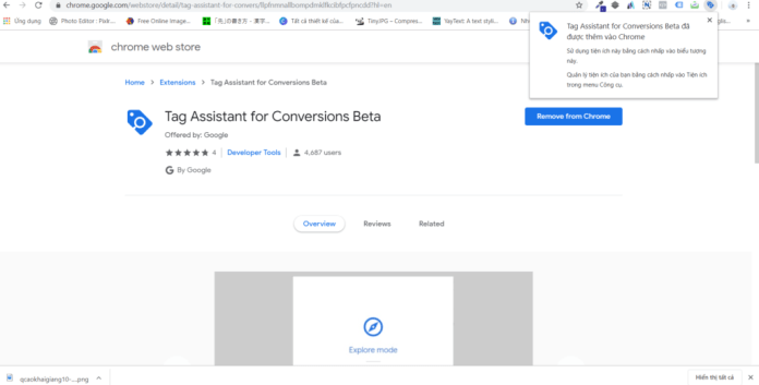cai dat tag assistant for conversions beta 4